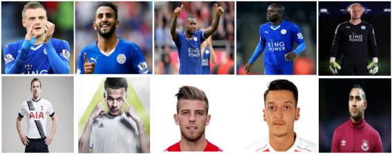 10 Kandidat Best Player Liga Inggris Musim 2015 dan 2016