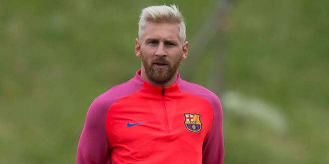 Gaya Ramput Pirang Ala Lionel Messi