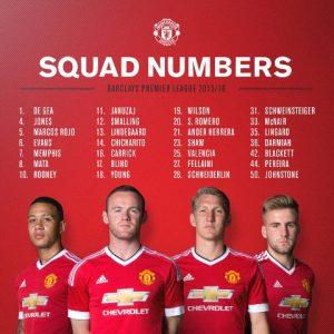 Squad Manchester United Musim 2015 dan 2016