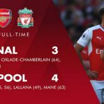 Liverpool Tundukkan Arsenal 3-4 di Emirates Stadium
