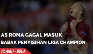 Dikalahkan Porto, Roma Gagal Lolos Liga Champion