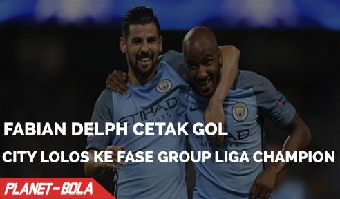 Fabian Delph Cetak Gol Kemenangan Antar City Lolos ke Fase Group Liga Champion