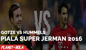 Gotze Vs Hummels di Piala Super Jerman 2016