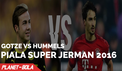 Gotze Vs Hummels di Piala Super Jerman 2016