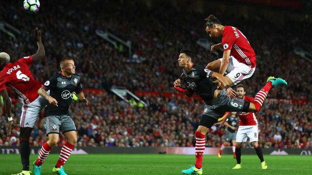 Ibra Cetak Gol Pertamanya Dengan Sundulan Kepala di Laga Versus Southampton