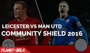 Leicester Vs Manchester United di Community Shield 2016