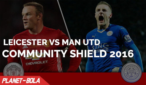 Leicester Vs Manchester United di Community Shield 2016