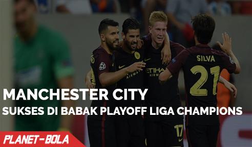 Manchester City Sukses di Leg Pertama Babak Playoff Liga Champion