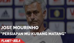 Mourinho, Persiapan MU Kurang Matang