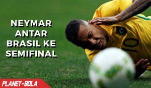 Neymar Antar Brazil ke Babak Semifinal