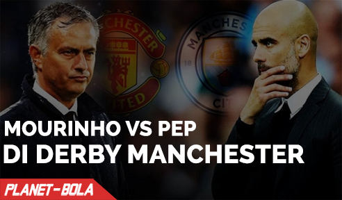 Jose Mourinho Vs Pep Guardiola di Derby Manchester Pekan Ini