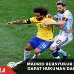 Marcelo dapat hukuman dari Brazil, Madrid bersyukur