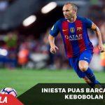 Iniesta Sangat Puas Barcelona Tak Kebobolan saat Hadapi Osasuna
