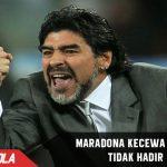 Tidak hadir, Maradona kecewa dengan Messi