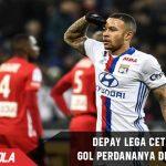 Memphis Depay Lega cetak gol perdananya untuk Lyon
