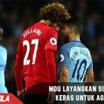 Fellaini dikartu Merah, Mourinho layangkan sindiran keras ke Aguero