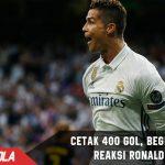 Berhasil cetak 400 gol untuk Madrid, Ini reaksi Ronaldo