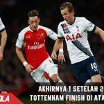 Finish diatas Arsenal, Tottenham akhiri kutukan selama 22 Tahun