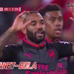 Lacazette Cetak Gol Dalam Debut Perdananya Bersama Arsenal
