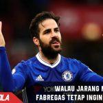 Jarang Bermain, Fabregas mengaku tidak ingin tinggalkan Chelsea