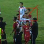 Memalukan! Kapten Bhayangkara FC Pukul Leher Pemain Bali United