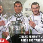 Akhirnya! Zidane jujur akui kangen melihat aksi ganas BBC