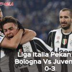 Liga Italia Pekan ke-17: Bologna Vs Juventus 0-3, Inter Milan Tergusur