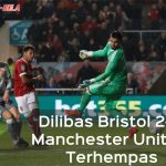 Dilibas Bristol 2-1, Manchester United Terhempas