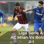 Liga Serie A: AC Milan Vs Bologna 2-1, Bonaventura Borong Gol