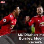 Hasil Liga Inggris: MU Ditahan Imbang Burnley, Mourinho Kecewa