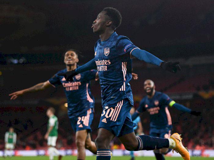Eddie Nketiah Pencetak Gol Ketiga Arsenal di Laga Arsenal Vs Rapid Wina