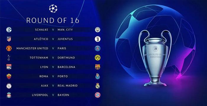 Babak 16 Besar Liga Champions 2019