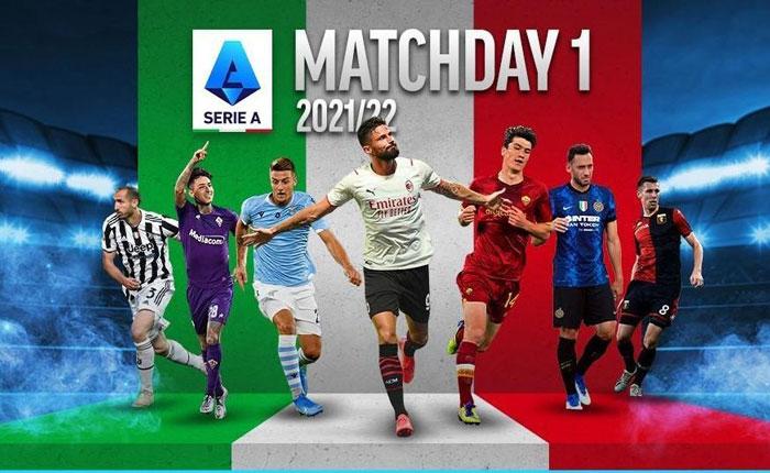 Jadwal Liga Serie A Italia Tayang 21-24 Agustus 2021