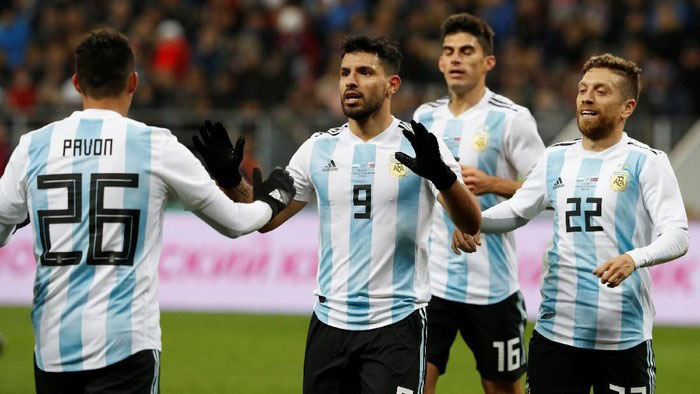 Sergio Aguero Bela Timnas Argentina di Piala Dunia 2018